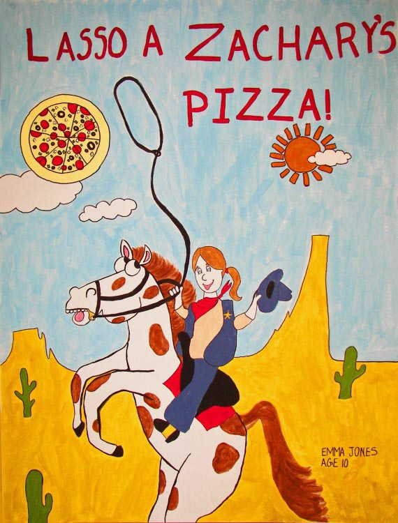 Lasso a Zachary's Pizza, Emma Jones, age 10