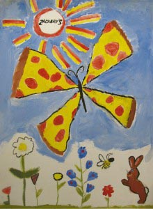 Pizza Butterfly, Emma Ruth 2012, age 6