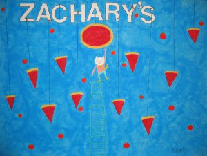 S, Hanging Pizza-Hanging cat, Nikola Bachman, 2012, 16