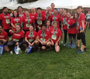group marathon shot