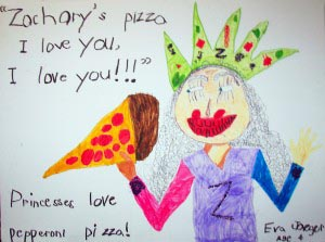 Pizza Princess. Eva Jaeger, 2005, 4 years old