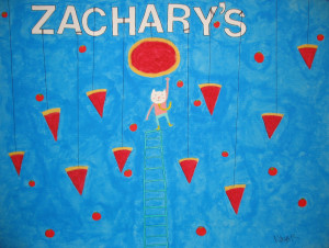 S, Hanging Pizza-Hanging cat, Nikola Bachman, 2012, 16