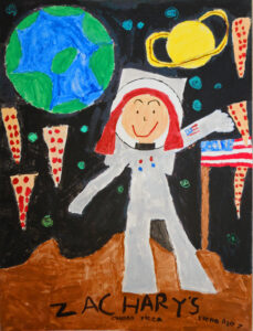 Space Pizza (Girl Astronaut), Elena Schuster, 2011, SR, 7