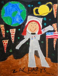 Space Pizza (Girl Astronaut), Elena Schuster, 2011, SR, 7