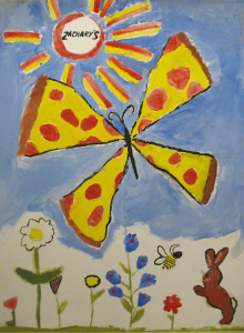 S, Pizza Butterfly, Emma Ruth 2012, 6