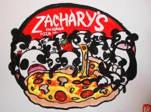 SR Pandas Eating Pizzas, Julia Blattman